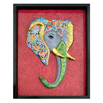 TABLEAU RELIEF ELEPHANT
